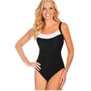Miraclesuit colorblock one piece swimsuit